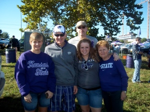 Family at the K-State vs. Miami tailgate