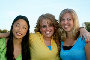 Kay, Chole and I as senior's in high school.