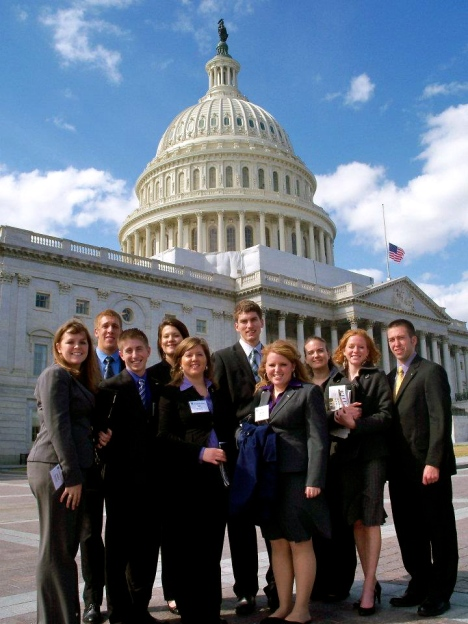2011 AFA Student Advisory Team and Interns at the Capitol