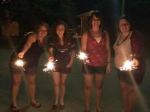 4th of July with Leah, Megan and Jancey.