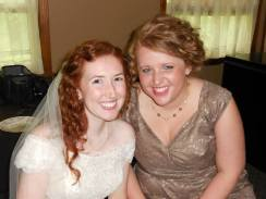 Minutes before Leah & Ryan got hitched!