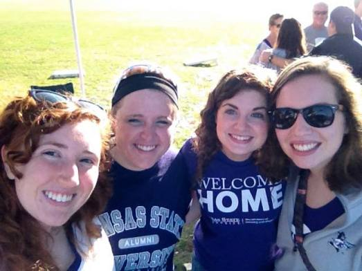 K-State tailgating with Leah, Aspen and Miranda.
