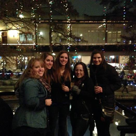 New Year's Eve on the Riverwalk.