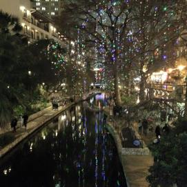 The San Antonio Riverwalk on New Year's Eve