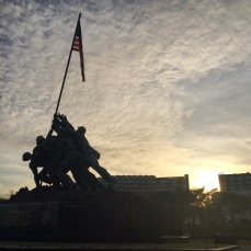 The Iwo Jima memorial is a little under 1.5 miles from my apartment.