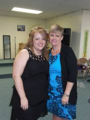 With my Mom at Kyla's wedding.