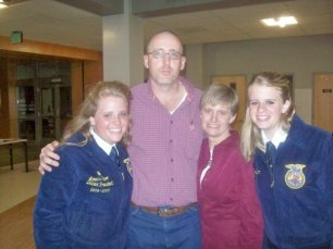 At my senior FFA banquet 2009