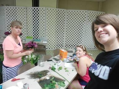 Doing the flower's for Kyla's