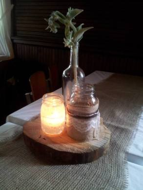 Table decor at Leah's