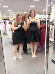 Bridesmaids dress shopping with Kyla and Megan.