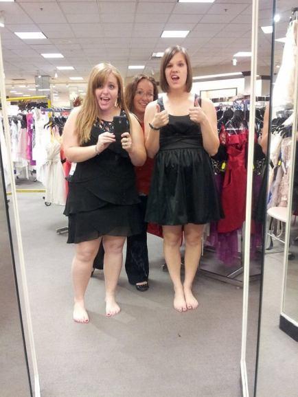 Bridesmaids dress shopping with Kyla and Megan.