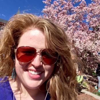 cherry blossom selfie