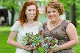 Leah was gorgeous! And I thought my hair was red...