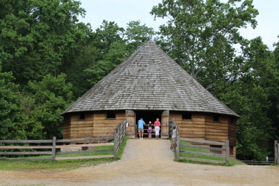 Mt. Vernon - 16-sided barn invented by Washington for grains
