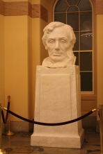 "U.S. Capitol - bust of Lincoln by the same artist that did Mt. Rushmore. This is the ""mistake"" version and the real one is at the White House."
