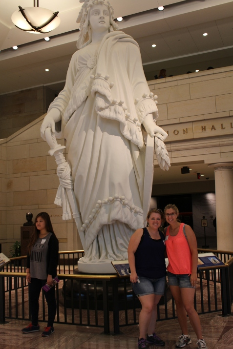 """The original statue of """"Freedom"""" which is used to cast the one that lives at the top of the Capitol."""