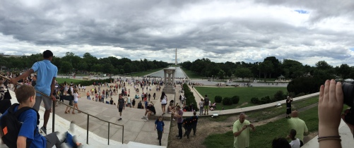 Panorama Richole took of the National Mall from the Lincoln Memorial