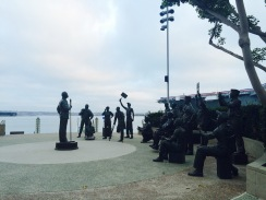 Morning run down to the Midway and Bob Hope Salute.