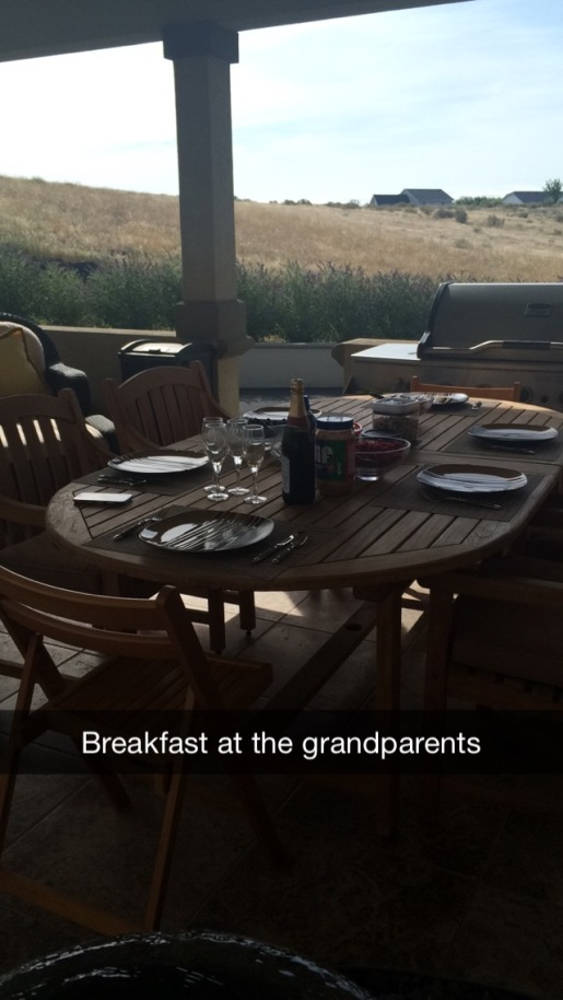 Didn't get a picture with them, but seriously my grandparents know how to do breakfast.