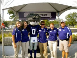 Ag Ambassors representing at the K-State game in KC.