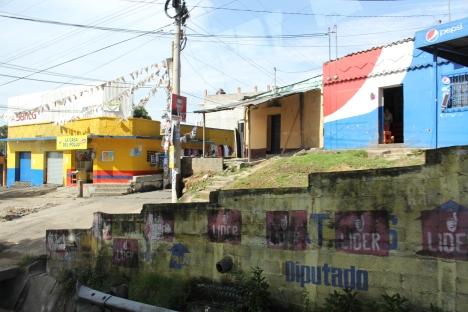 Driving through Guatemala City.
