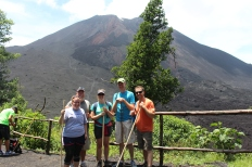 Part of our group at the Volcan de Pacaya