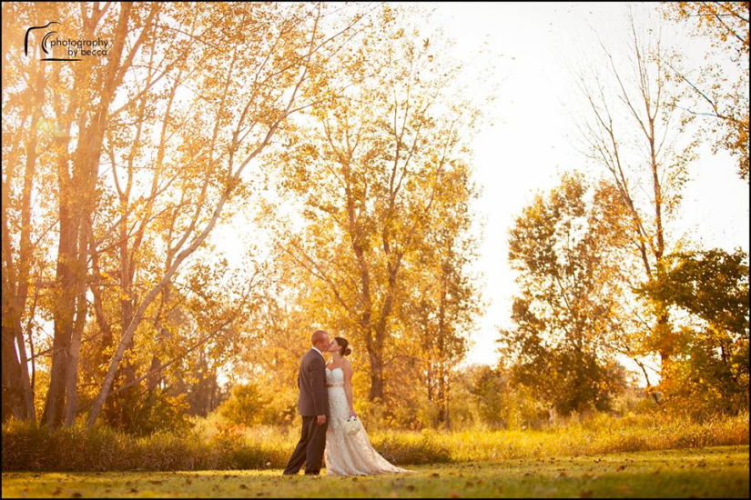 Nathan and his wife Alison on their wedding day. ( Amanda: This is such a great photo!)