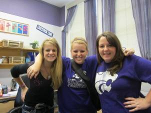 With Janci Spoo, Amanda's sister (on the left). Fall 2011.