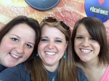 BaconFest '14 - Jancey, Amanda and Megan.