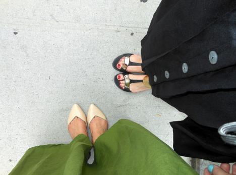 Fashionable feet in New york_