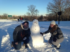 No we did not build this snowman