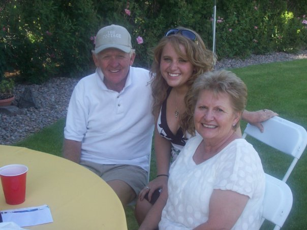 With my grandparents at my high school graduation in 2009.