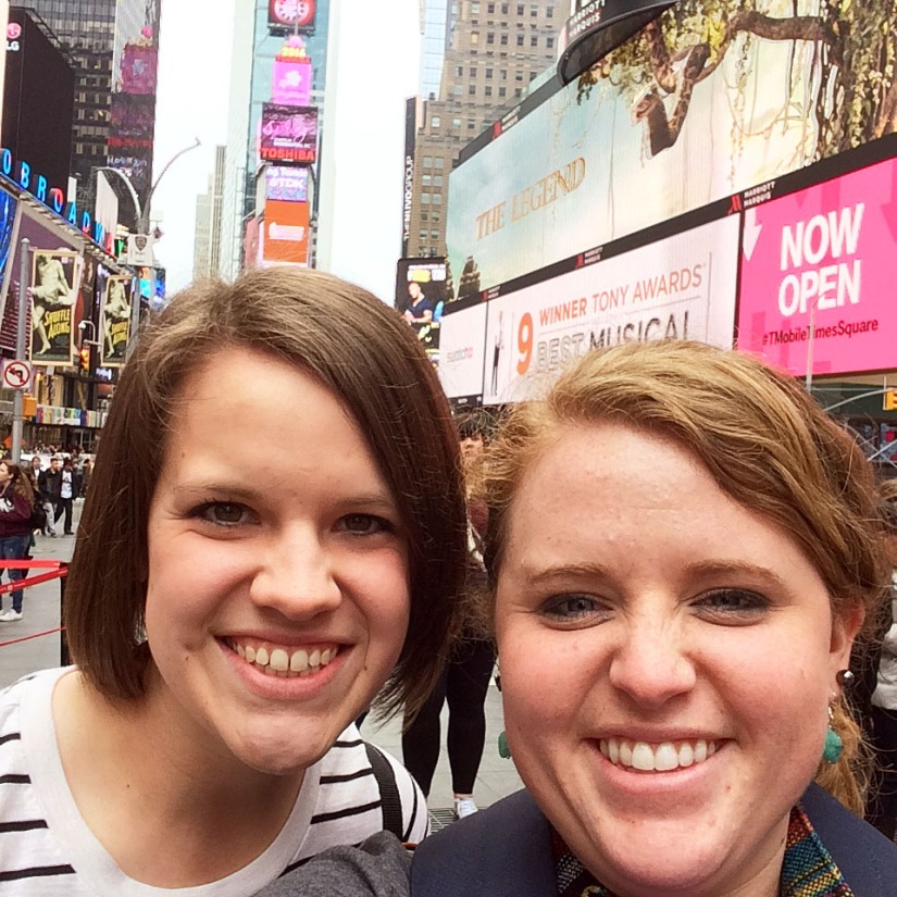 Amanda and Megan in Times Square - EDITED