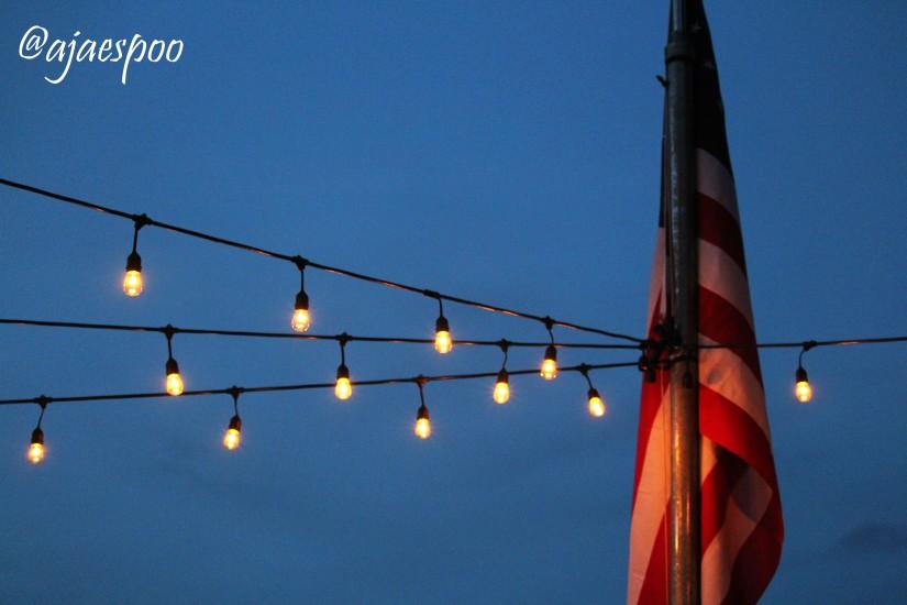 flag and light with namemark
