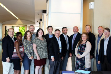 Some of our staff at the summer board meeting