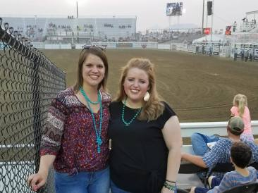 With Megan at the Farm City Pro Rodeo