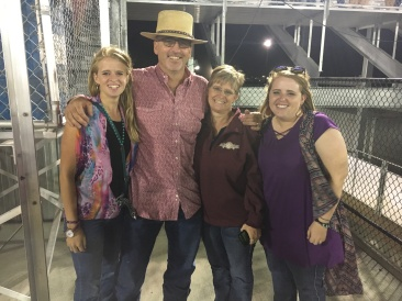 My family at the Farm City Pro Rodeo
