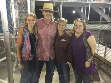 My family at the Farm City Pro Rodeo