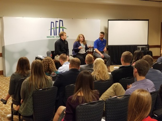 Speaking to college seniors at AFA Leaders Conference